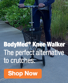 Quarter Page Ad – Shop the BodyMed® Knee Walker – Click to View Page