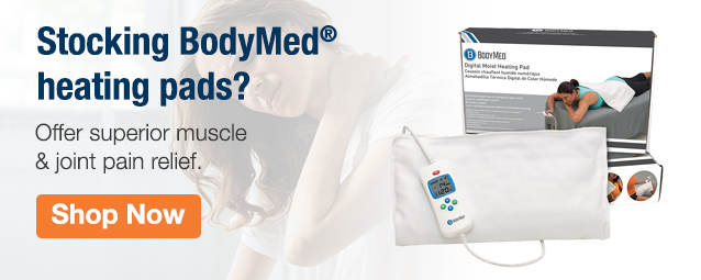 Homepage Banner Ad - BodyMed Digital Moist Heating Pad - Click to Shop