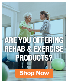 Homepage Banner Ad - Rehab and Exercise products ad - Click to Shop