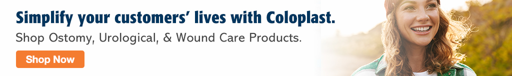 Full Page Banner Ad – Shop Coloplast's Product Lines at Milliken – Click to View Page