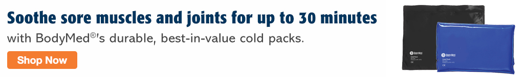 Full Page Banner Ad – Soothe Soreness with BodyMed Cold Packs – Click to View Page