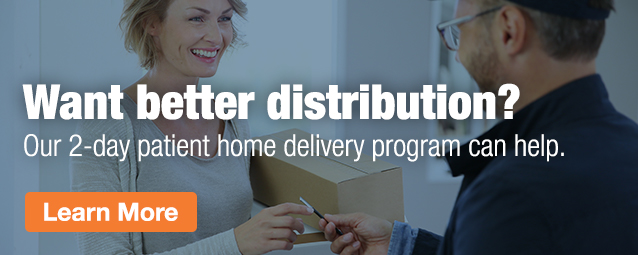 Half Page Ad – Learn More about our 2-day patient home delivery program – Click to View Page