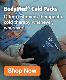 Quarter Page Ad – Offer Cold Therapy With BodyMed Cold Packs – Click to View Page