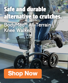 Quarter Page Ad – Shop the All-Terrain Knee Walker from BodyMed – Click to View Page