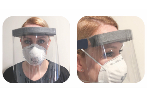Front and Side View of Seal Tight Face Shield