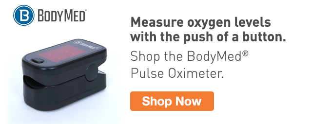 Half Page Ad – Shop the BodyMed Pulse Oximeter – Click to View Page