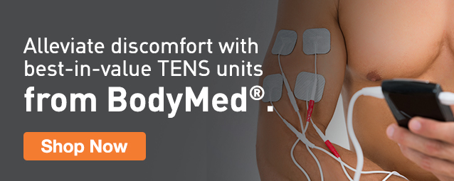 Half Page Ad – Shop Best-In-Value TENS Units from BodyMed – Click to View Page