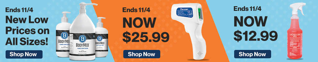 Full Page Banner Ad – Save on Hand Sanitizer, Thermometer, Disinfectant and More – Click to View Page