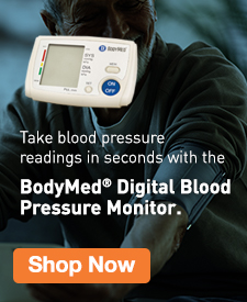 Quarter Page Ad – Shop BodyMed's Digital Blood Pressure Monitor – Click to View Page