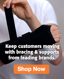 Quarter Page Ad – Shop Braces and Supports from Leading Brands – Click to View Page
