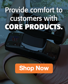 Quarter Page Ad – Shop Pillows, Supports, Braces, & More from Core Products – Click to View Page