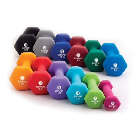 Neoprene Dumbbells - Colored/Single & More at Millilken Medical®