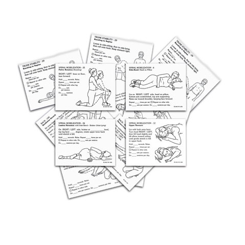 Orthopedic Exercise & Rehab Prescription Card Kit at